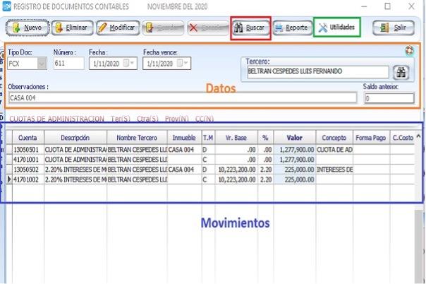 Contabilidad para propiedad horizontal: registro de documentos